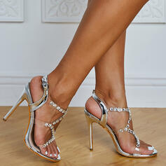 Women's Microfiber Leather Stiletto Heel With Buckle Hollow-out shoes