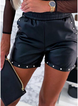 Couleur Unie Grande taille Sexy Short