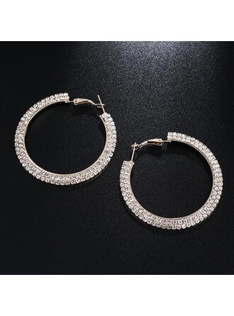 Brillant Alliage Strass Boucles d'oreilles (Lot de 2)